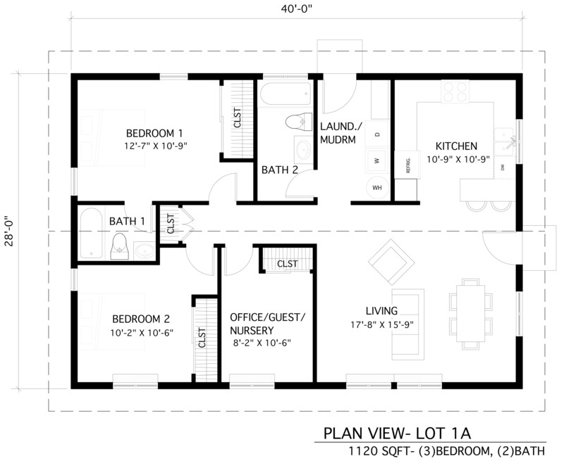An image showing Home 1A floor plan