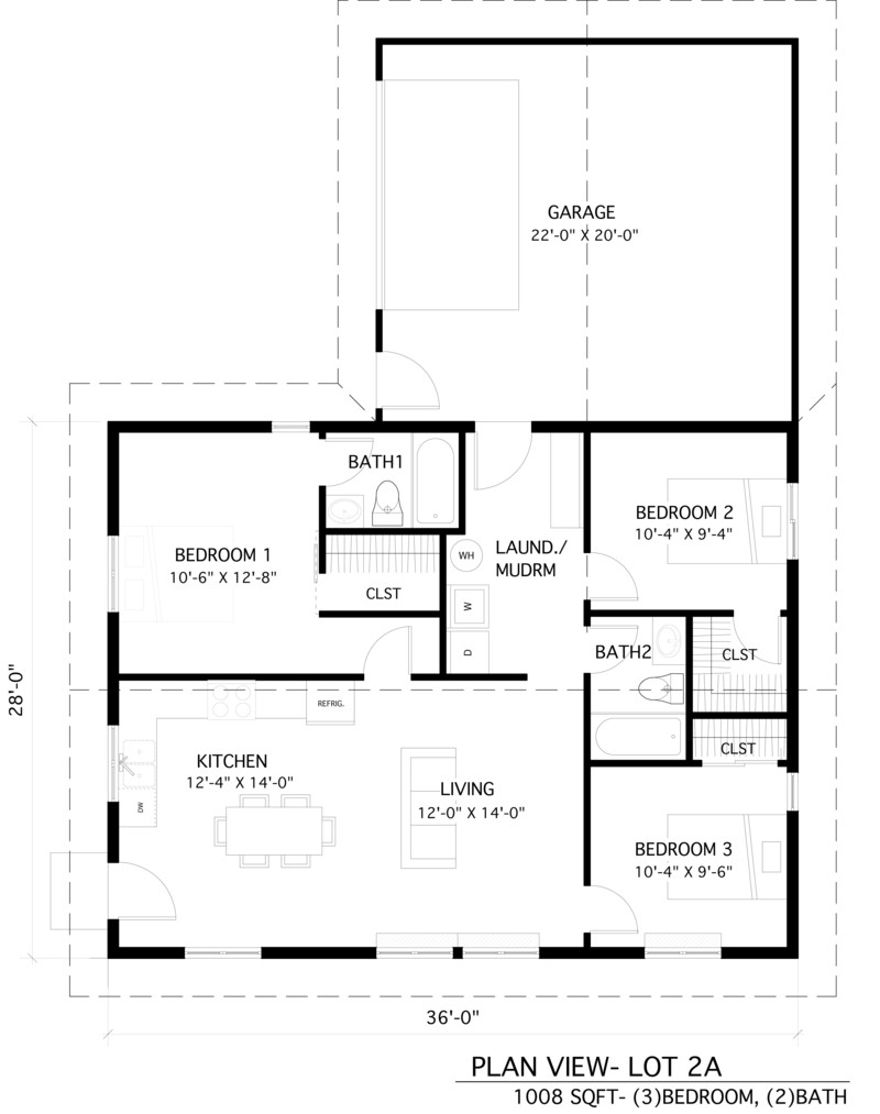 An image showing Home 2A floor plan