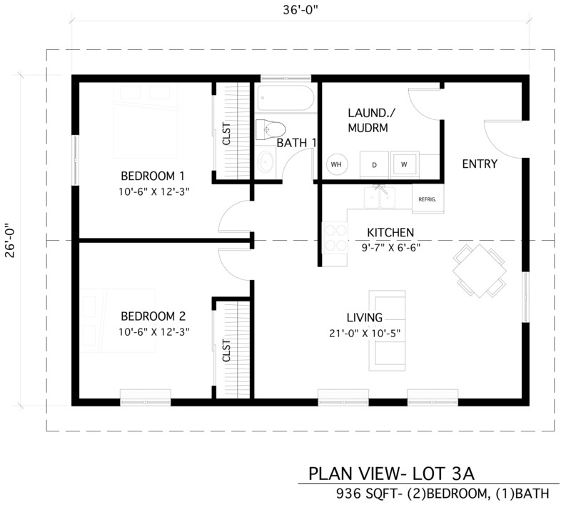 An image showing Home 3A floor plan